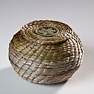 Basket and lid by Joan Hogben