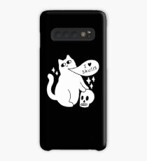 I Loves Skulls Cat Case/Skin for Samsung Galaxy