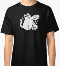 I Loves Skulls Cat Classic T-Shirt