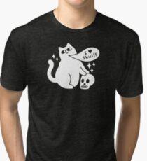 I Loves Skulls Cat Tri-blend T-Shirt