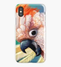 Moluccan Cockatoo realistic painting iPhone Case/Skin