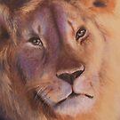 King - Lion totem by Cheryl White