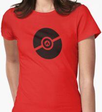 Pokemon Pokeball Fire  Women's Fitted T-Shirt