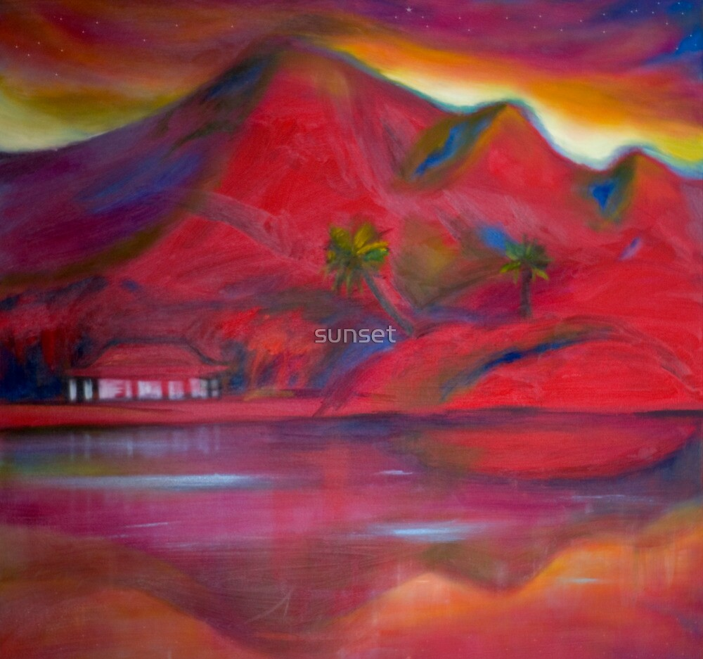 Red Landscape: a place of peace and energy by sunset