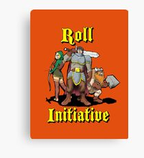 Roll Initiative Canvas Print