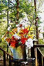 Harvest Watering Can w/o Border by Terri Chandler