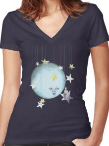 Hanging with the Stars Women's Fitted V-Neck T-Shirt