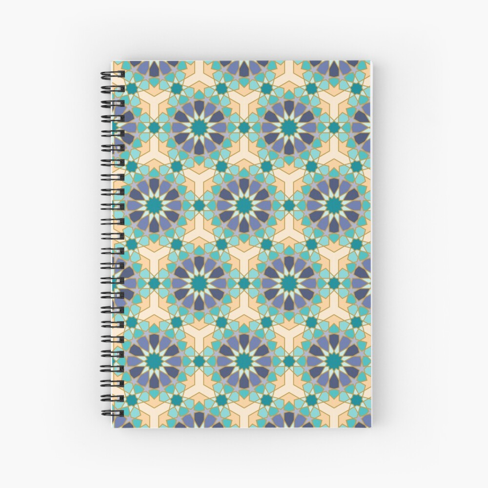 Geometric Pattern: Arabic Tiles: Dream Spiral Notebook