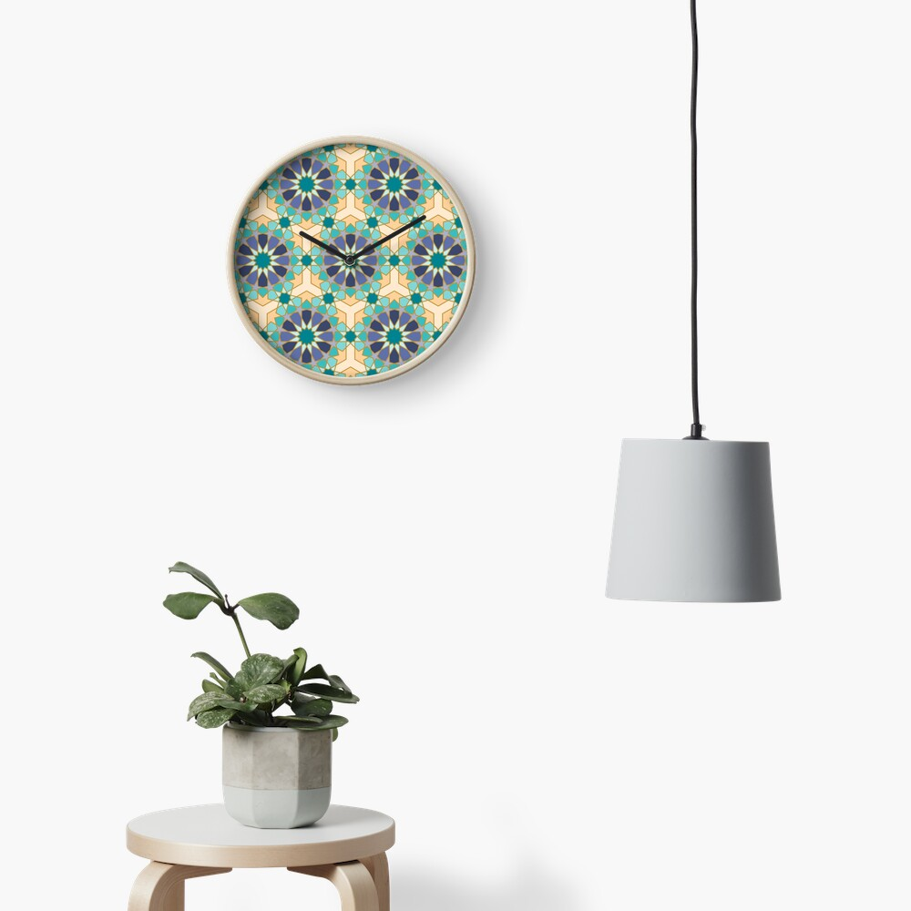 Geometric Pattern: Arabic Tiles: Dream Clock