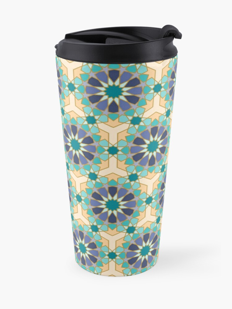 Alternate view of Geometric Pattern: Arabic Tiles: Dream Travel Mug