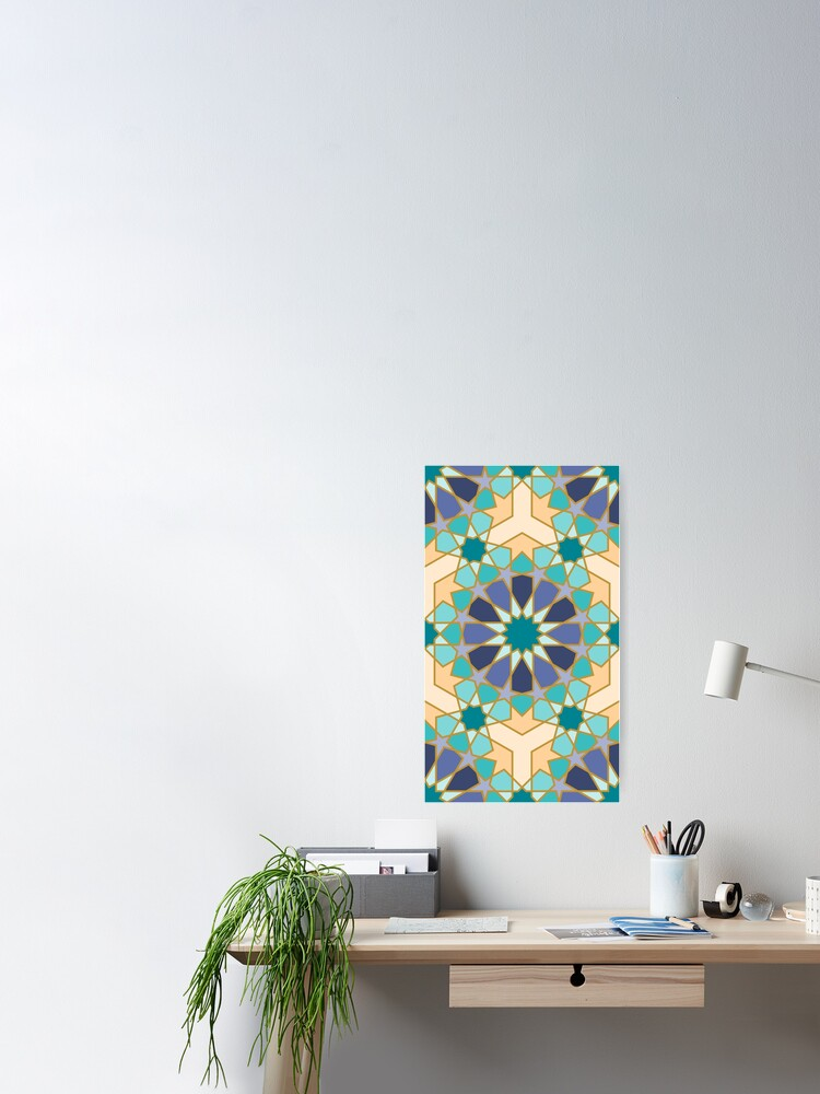 Alternate view of Geometric Pattern: Arabic Tiles: Dream Poster
