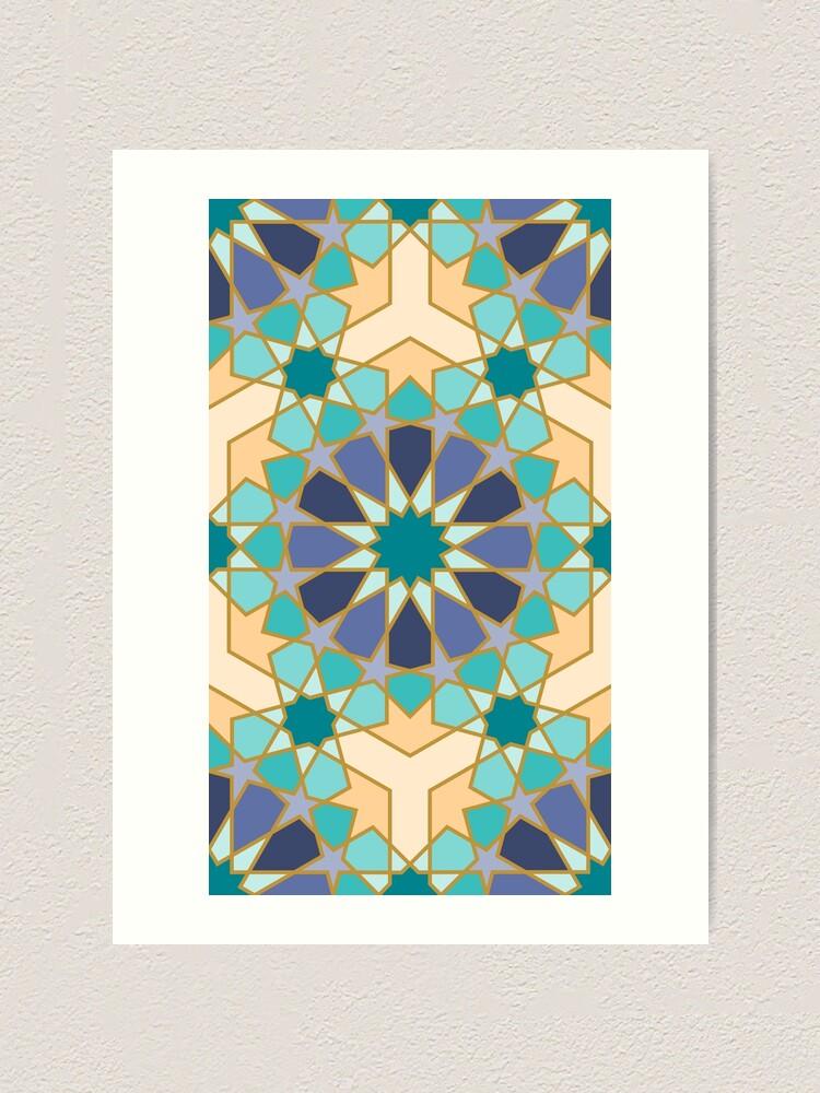 Alternate view of Geometric Pattern: Arabic Tiles: Dream Art Print