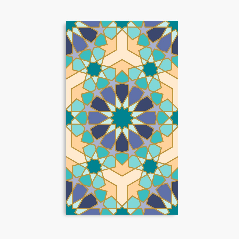 Geometric Pattern: Arabic Tiles: Dream Canvas Print