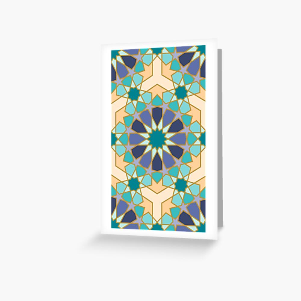 Geometric Pattern: Arabic Tiles: Dream Greeting Card