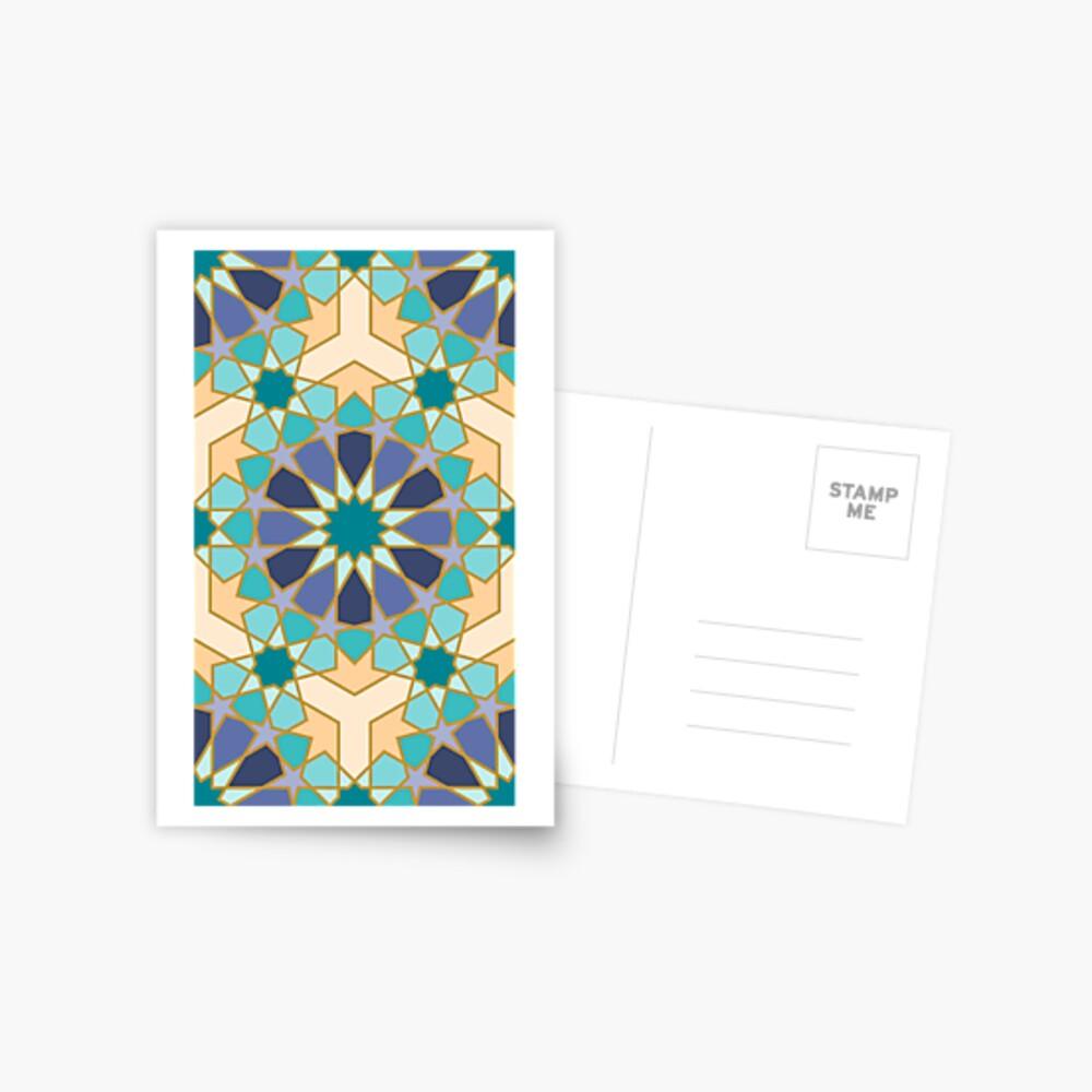 Geometric Pattern: Arabic Tiles: Dream Postcard