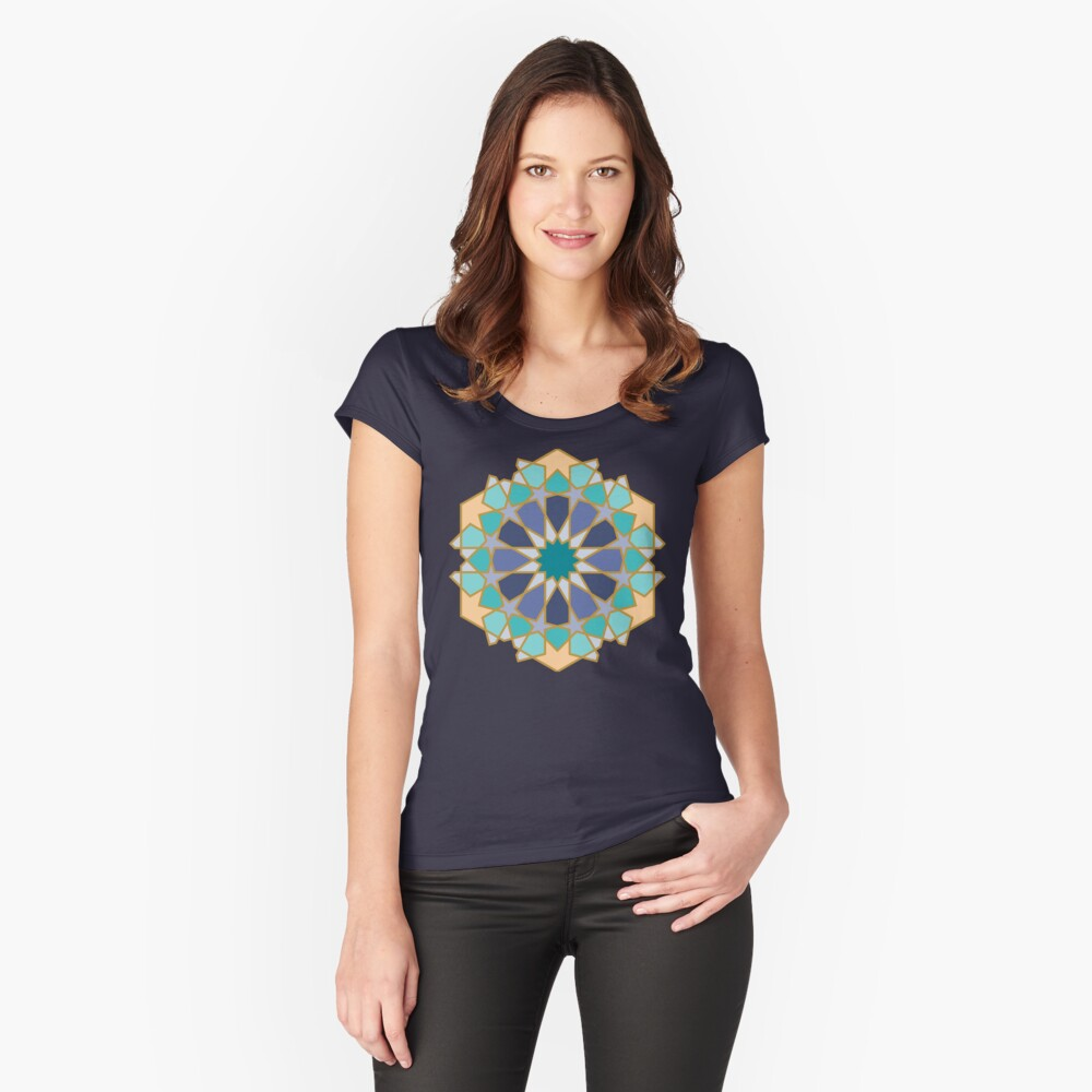 Geometric Pattern: Arabic Tiles: Dream Fitted Scoop T-Shirt