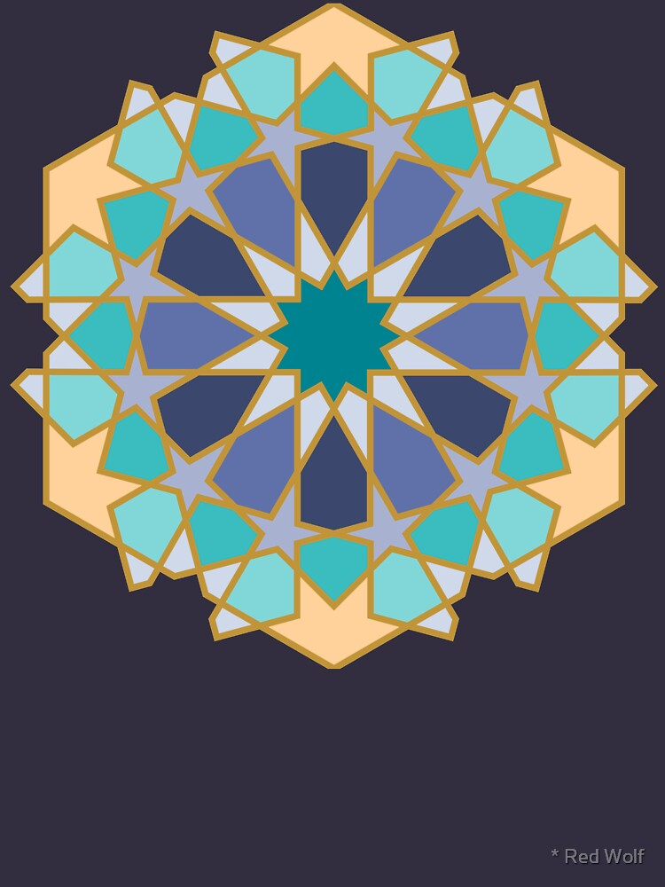 Geometric Pattern: Arabic Tiles: Dream by redwolfoz