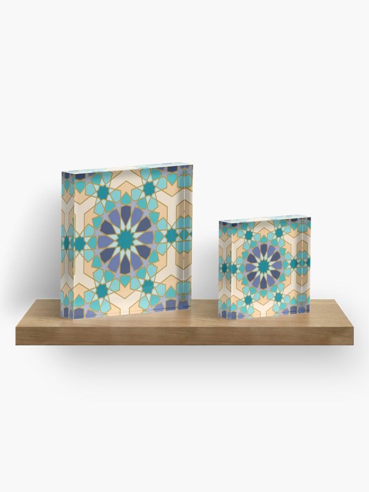 Alternate view of Geometric Pattern: Arabic Tiles: Dream Acrylic Block