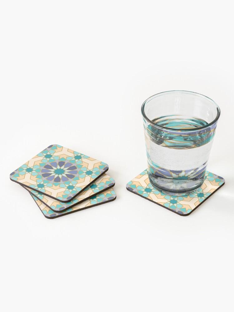 Alternate view of Geometric Pattern: Arabic Tiles: Dream Coasters (Set of 4)