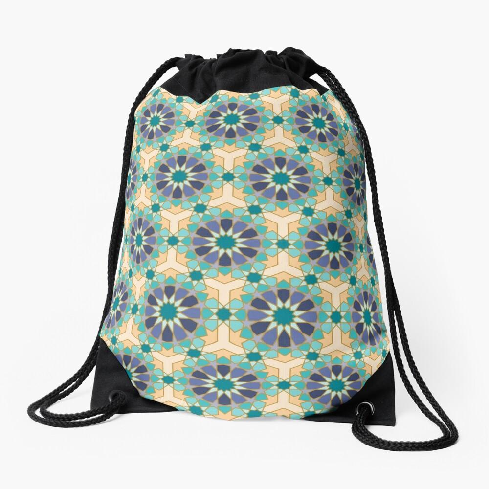 Geometric Pattern: Arabic Tiles: Dream Drawstring Bag