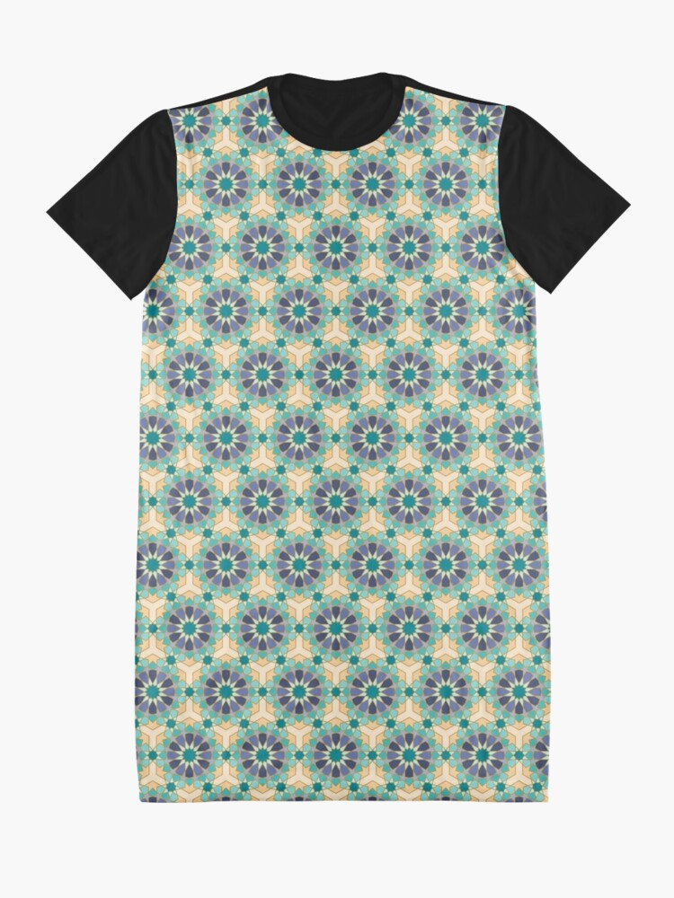 Alternate view of Geometric Pattern: Arabic Tiles: Dream Graphic T-Shirt Dress
