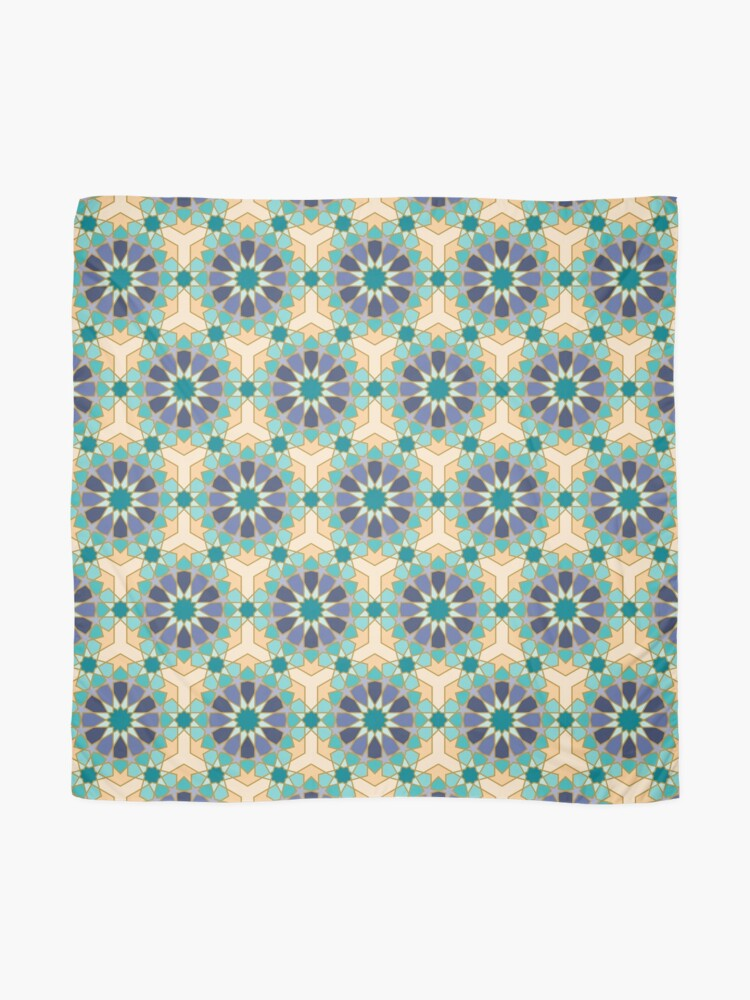Alternate view of Geometric Pattern: Arabic Tiles: Dream Scarf