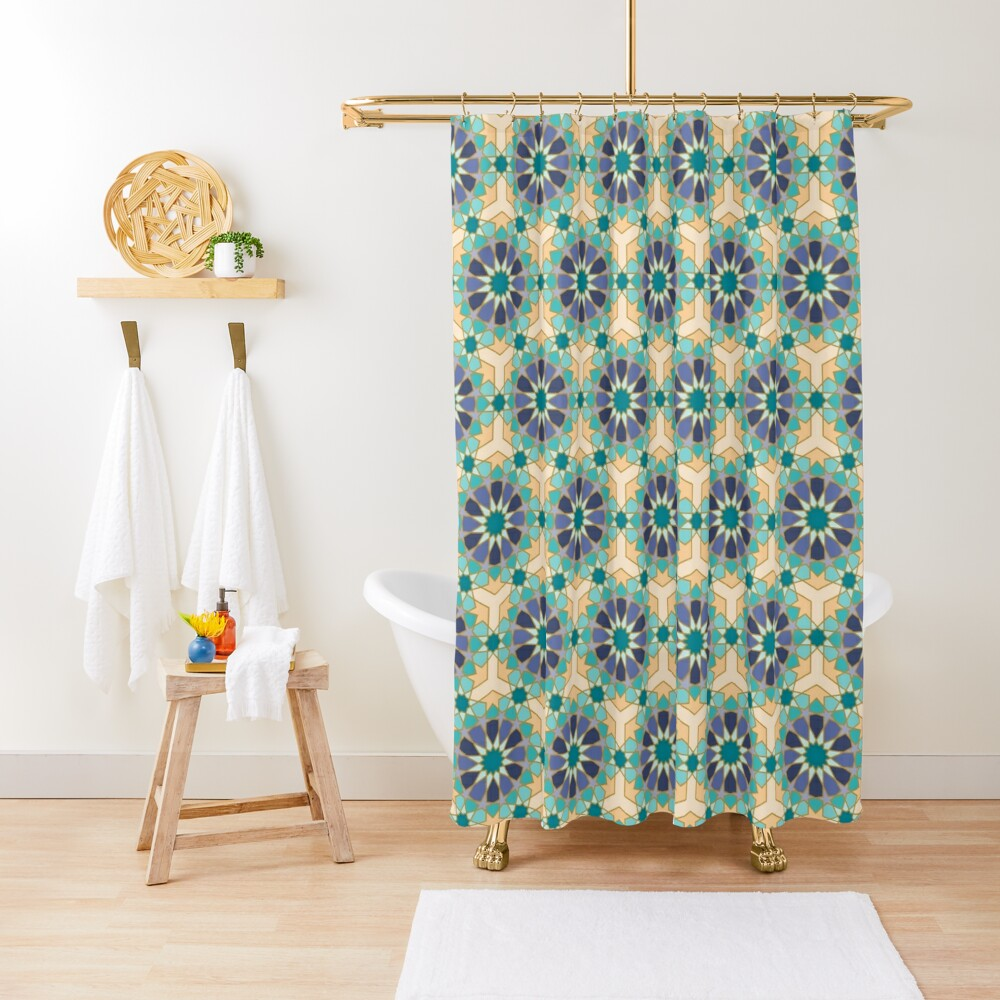 Geometric Pattern: Arabic Tiles: Dream Shower Curtain