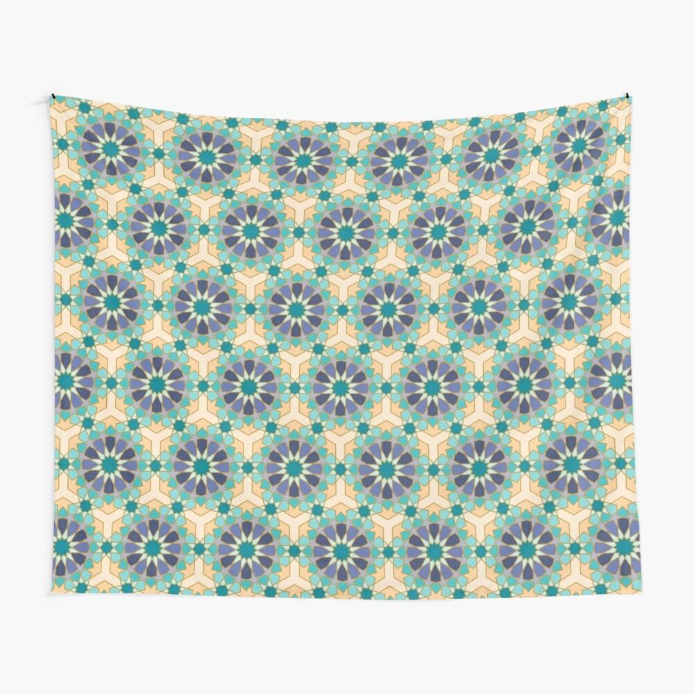 Geometric Pattern: Arabic Tiles: Dream Wall Tapestry