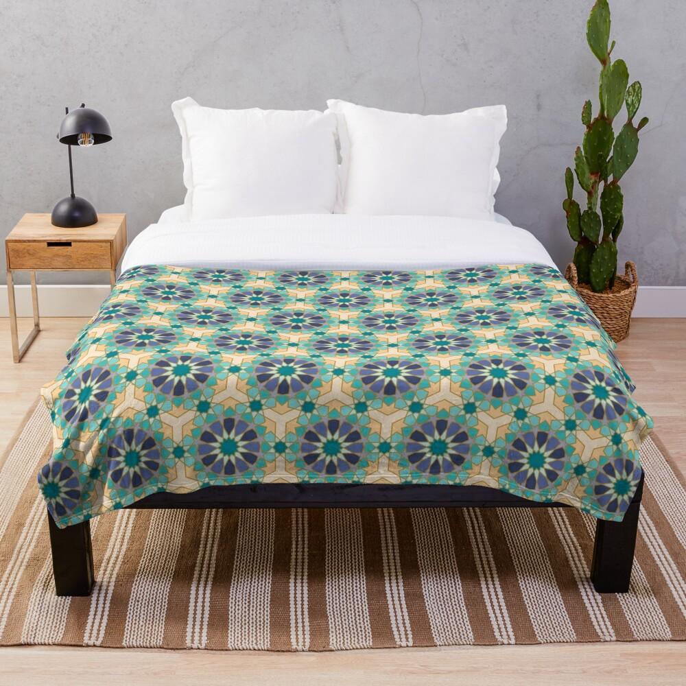 Geometric Pattern: Arabic Tiles: Dream Throw Blanket