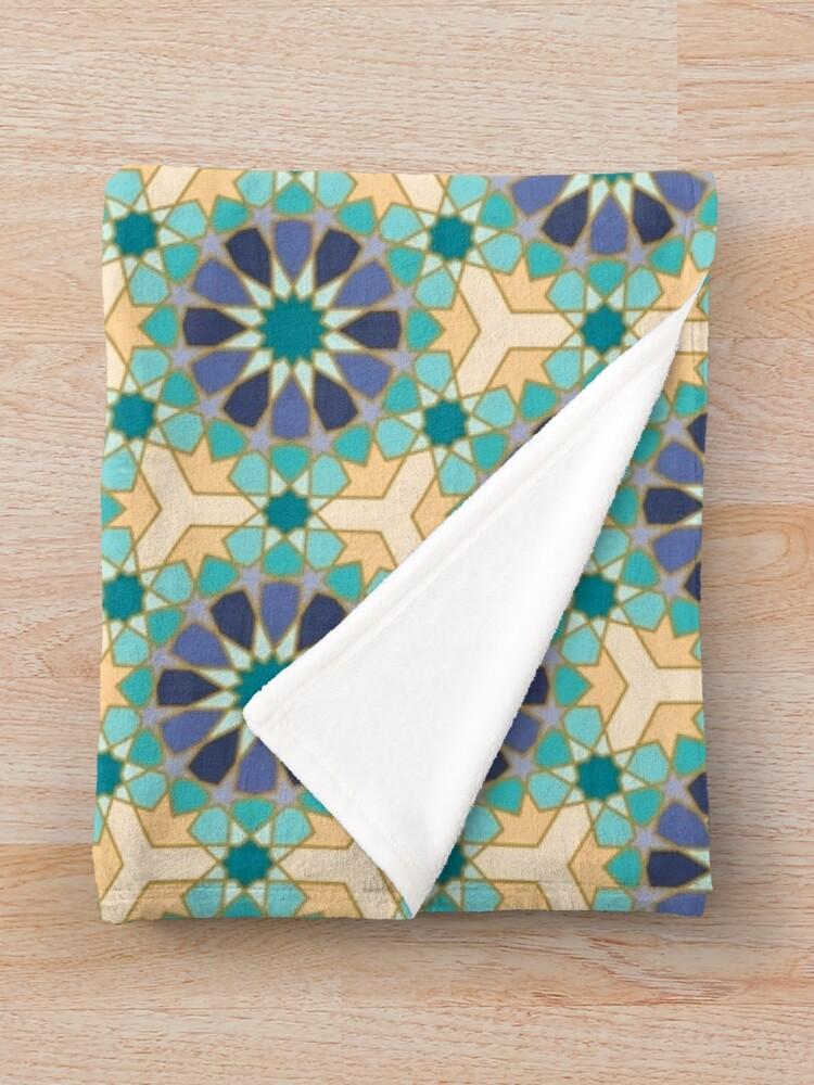 Alternate view of Geometric Pattern: Arabic Tiles: Dream Throw Blanket