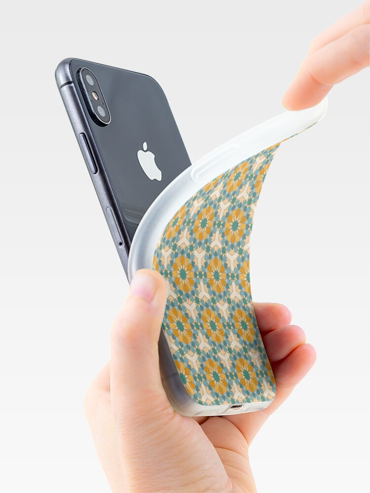 Alternate view of Geometric Pattern: Arabic Tiles: Lily iPhone Case & Cover