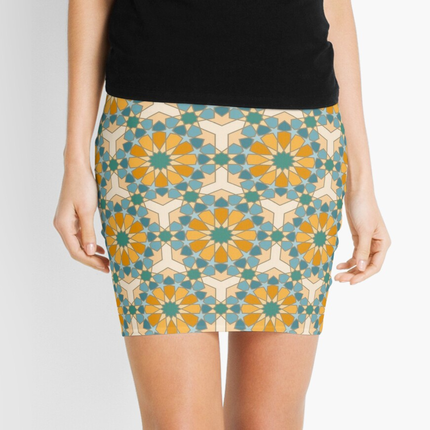 Geometric Pattern: Arabic Tiles: Lily Mini Skirt