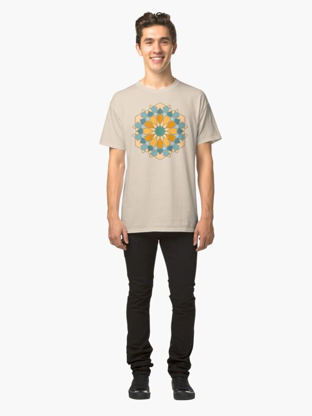 Alternate view of Geometric Pattern: Arabic Tiles: Lily Classic T-Shirt