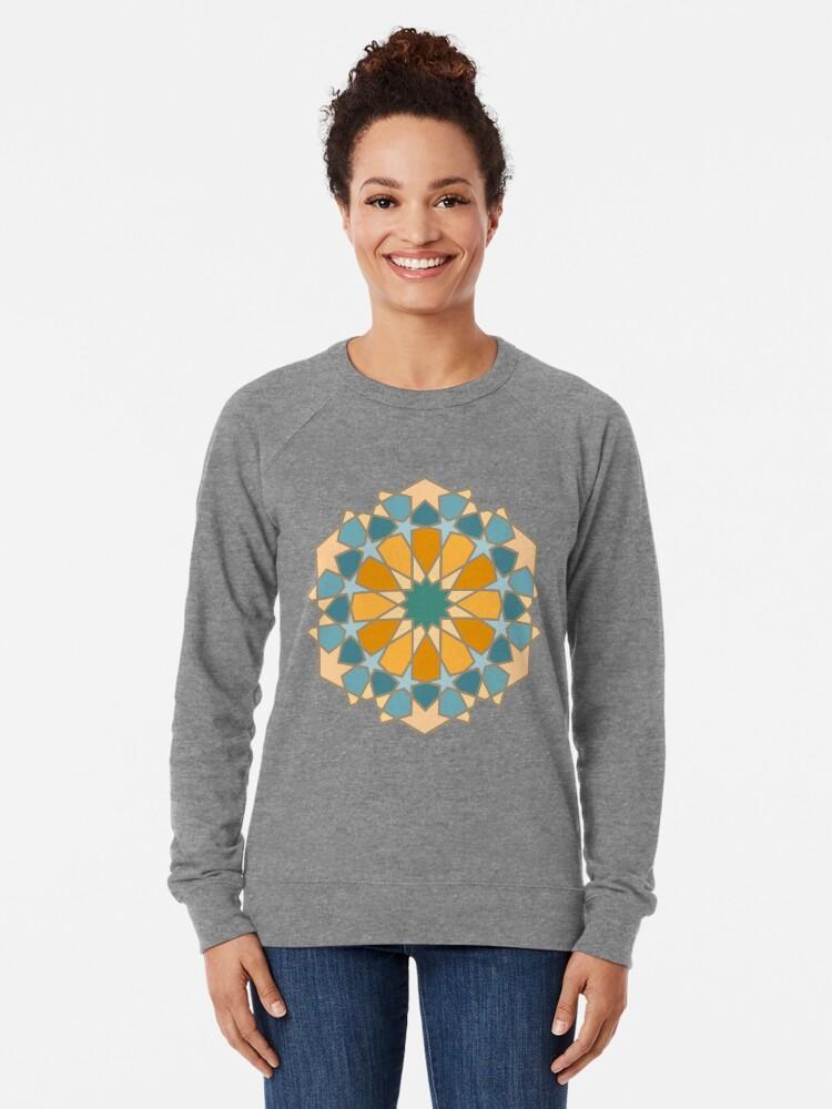 Alternate view of Geometric Pattern: Arabic Tiles: Lily Lightweight Sweatshirt