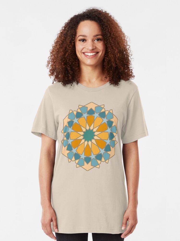 Alternate view of Geometric Pattern: Arabic Tiles: Lily Slim Fit T-Shirt