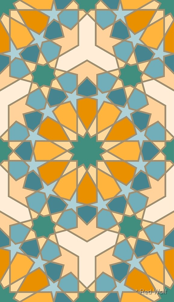 Geometric Pattern: Arabic Tiles: Lily by * Red Wolf