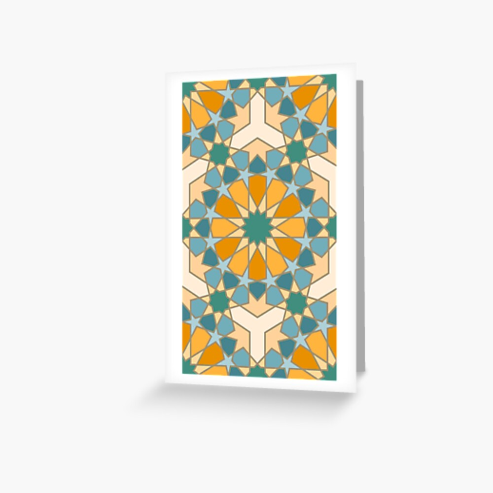 Geometric Pattern: Arabic Tiles: Lily Greeting Card