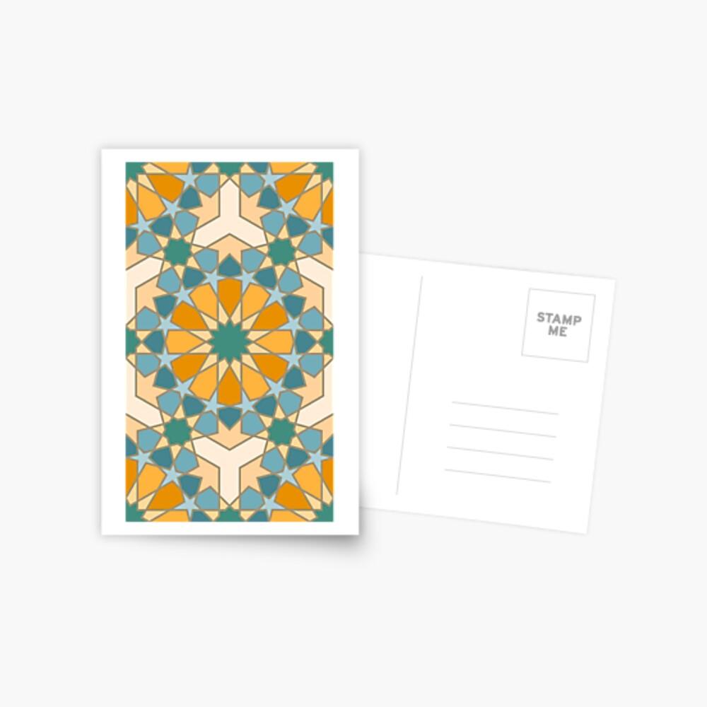 Geometric Pattern: Arabic Tiles: Lily Postcard