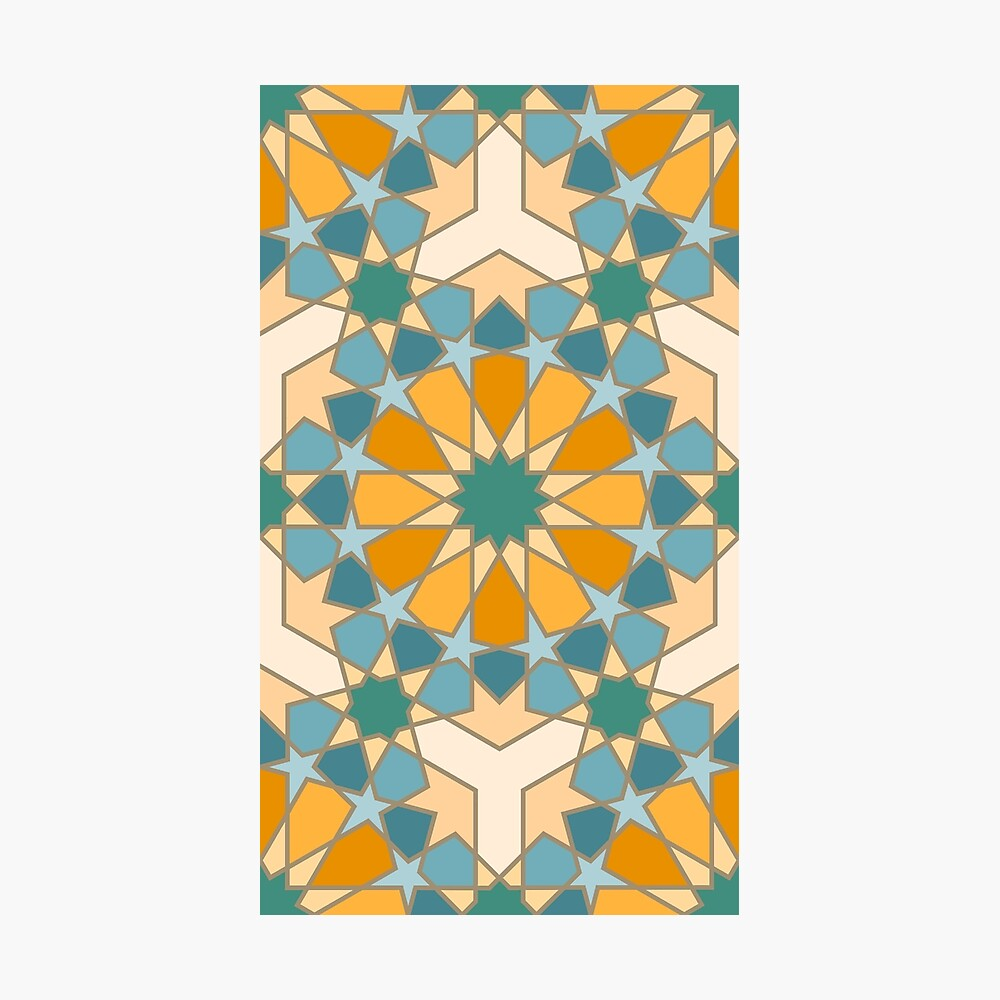 Geometric Pattern: Arabic Tiles: Lily Photographic Print