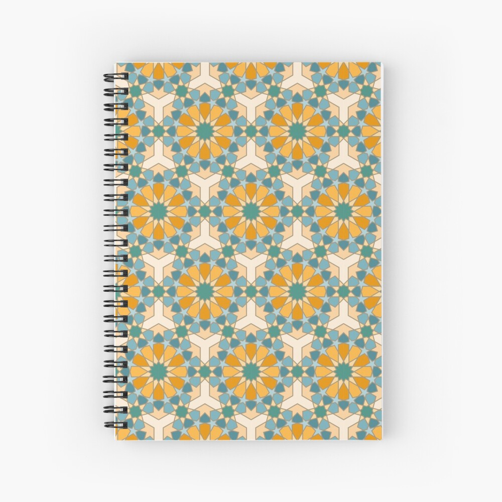 Geometric Pattern: Arabic Tiles: Lily Spiral Notebook