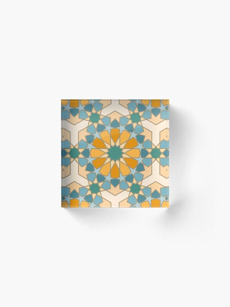 Alternate view of Geometric Pattern: Arabic Tiles: Lily Acrylic Block
