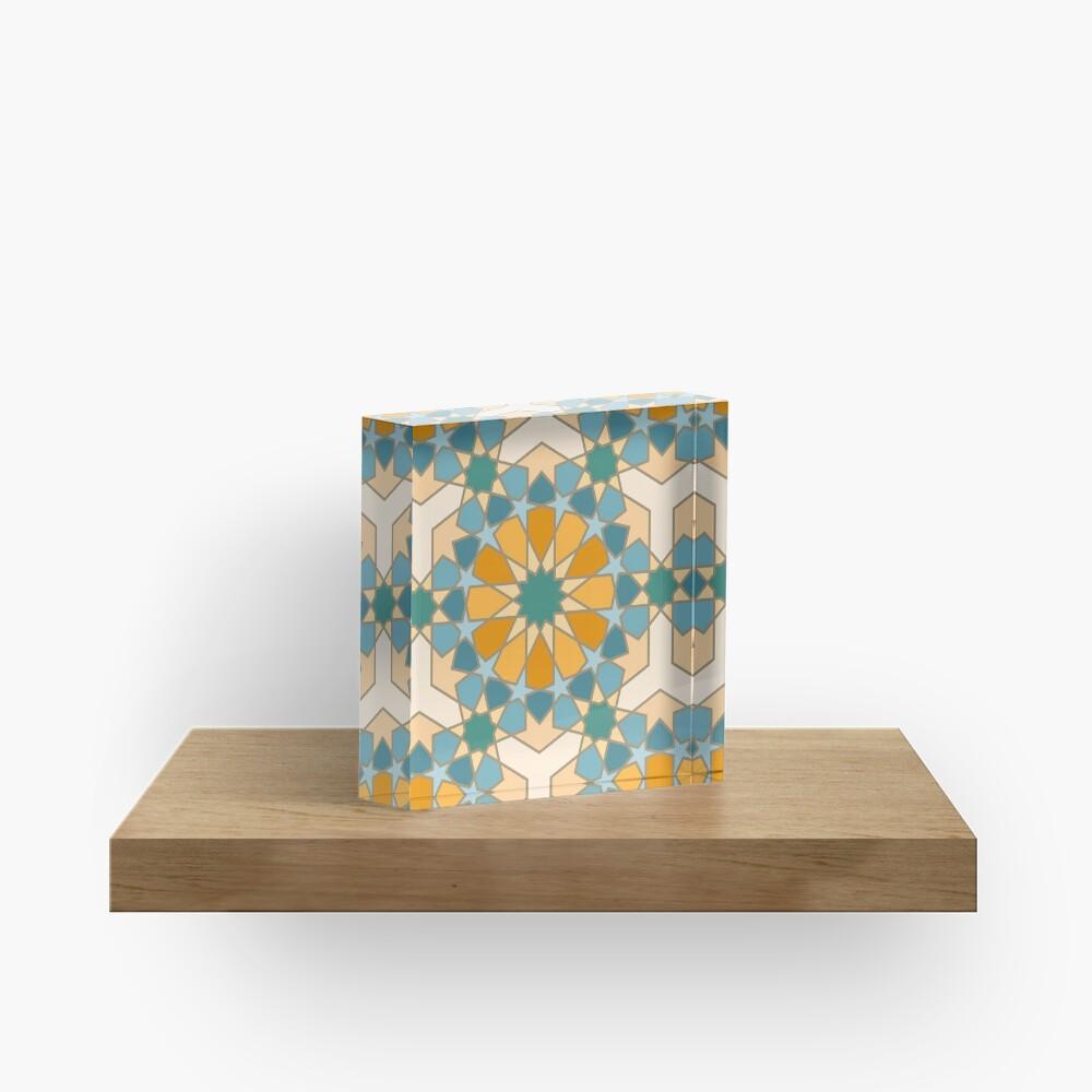 Geometric Pattern: Arabic Tiles: Lily Acrylic Block