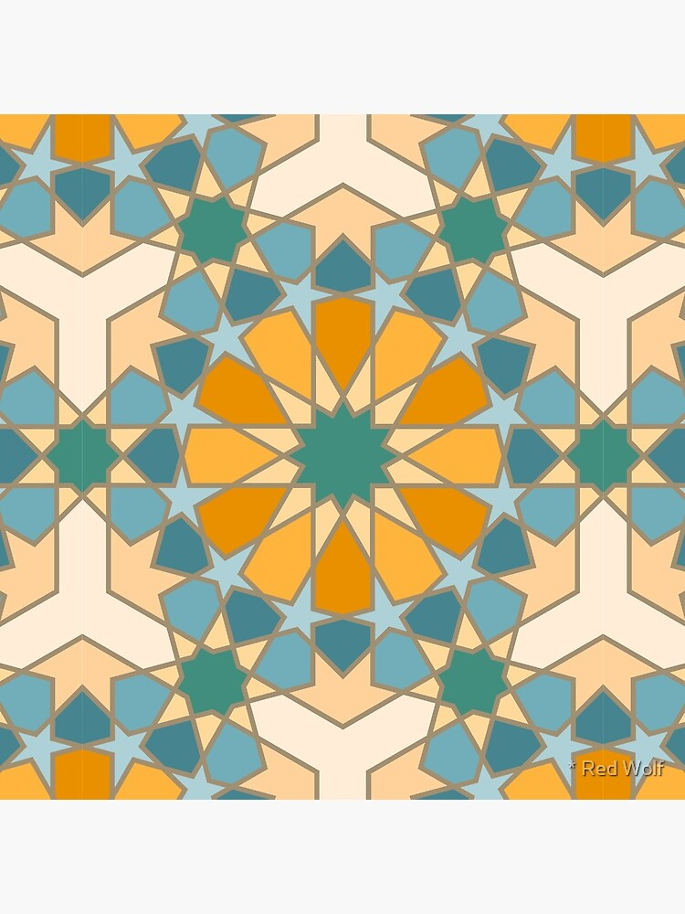 Geometric Pattern: Arabic Tiles: Lily by redwolfoz