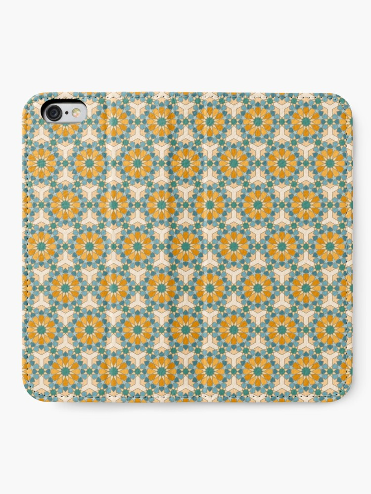 Alternate view of Geometric Pattern: Arabic Tiles: Lily iPhone Wallet