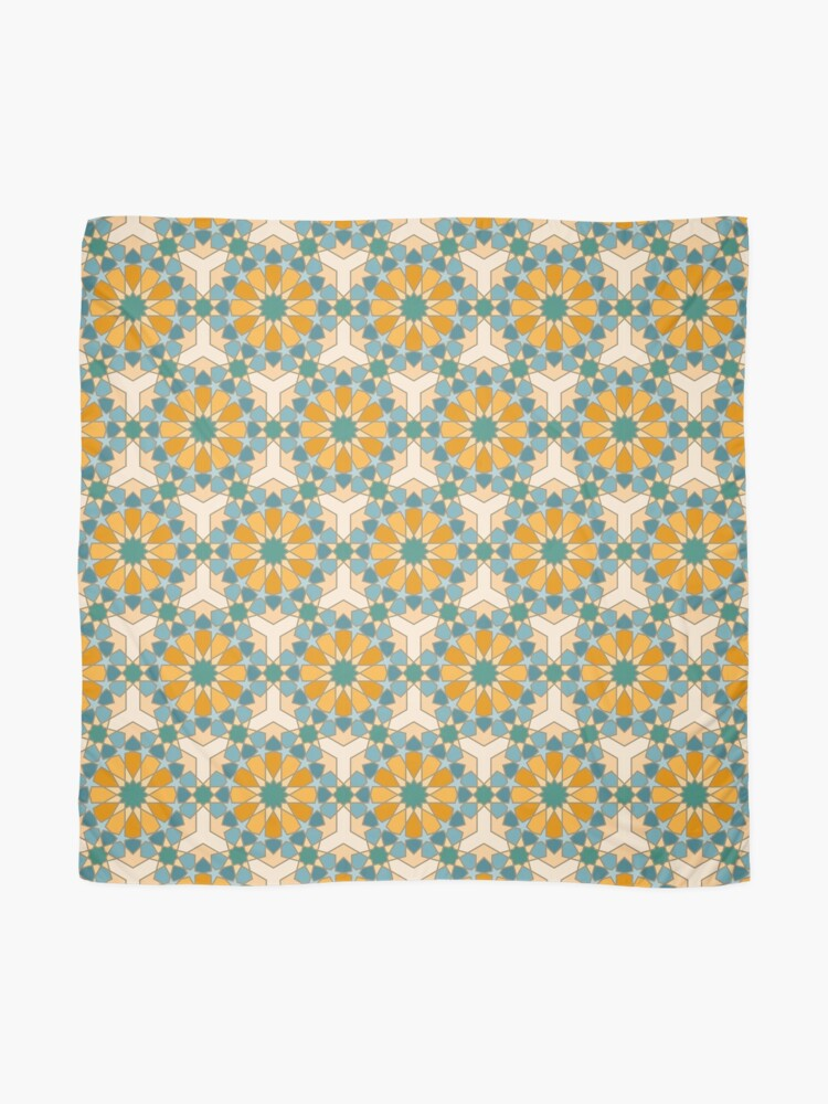 Alternate view of Geometric Pattern: Arabic Tiles: Lily Scarf