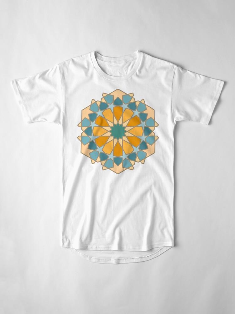 Alternate view of Geometric Pattern: Arabic Tiles: Lily Long T-Shirt