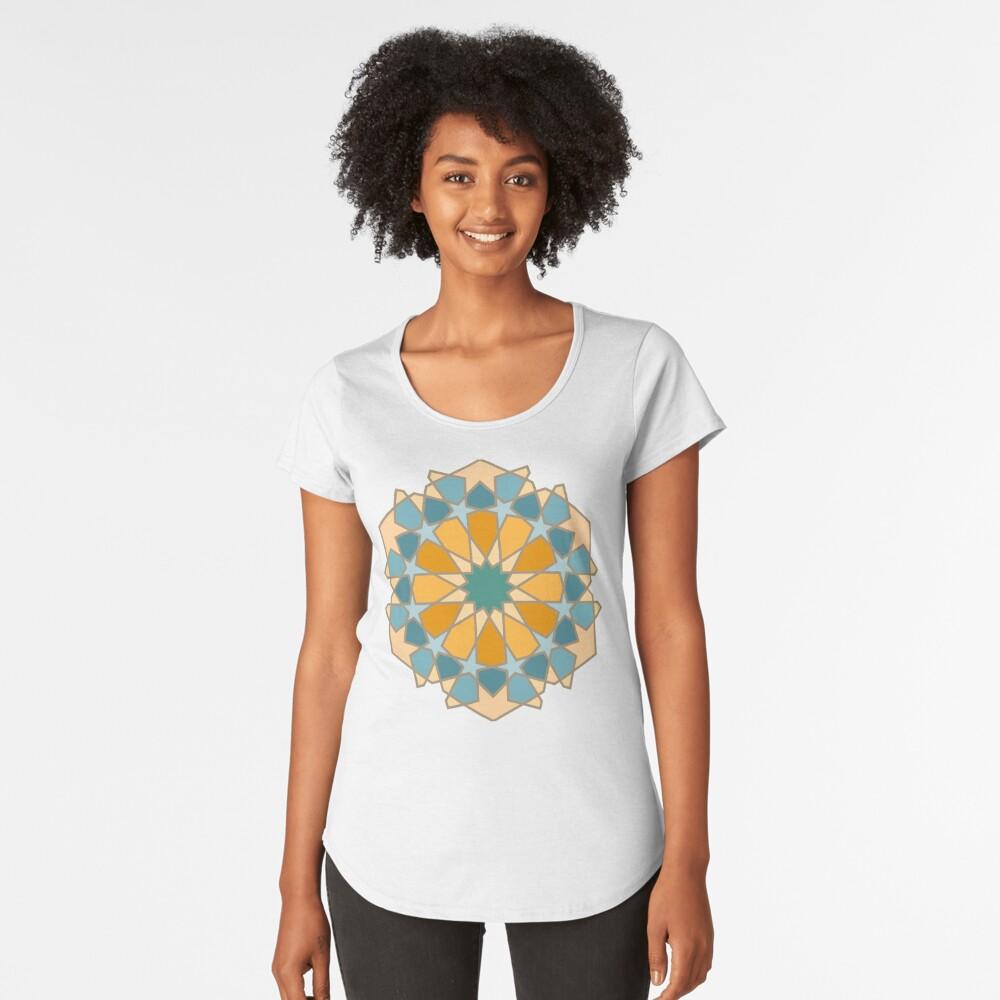 Geometric Pattern: Arabic Tiles: Lily Premium Scoop T-Shirt