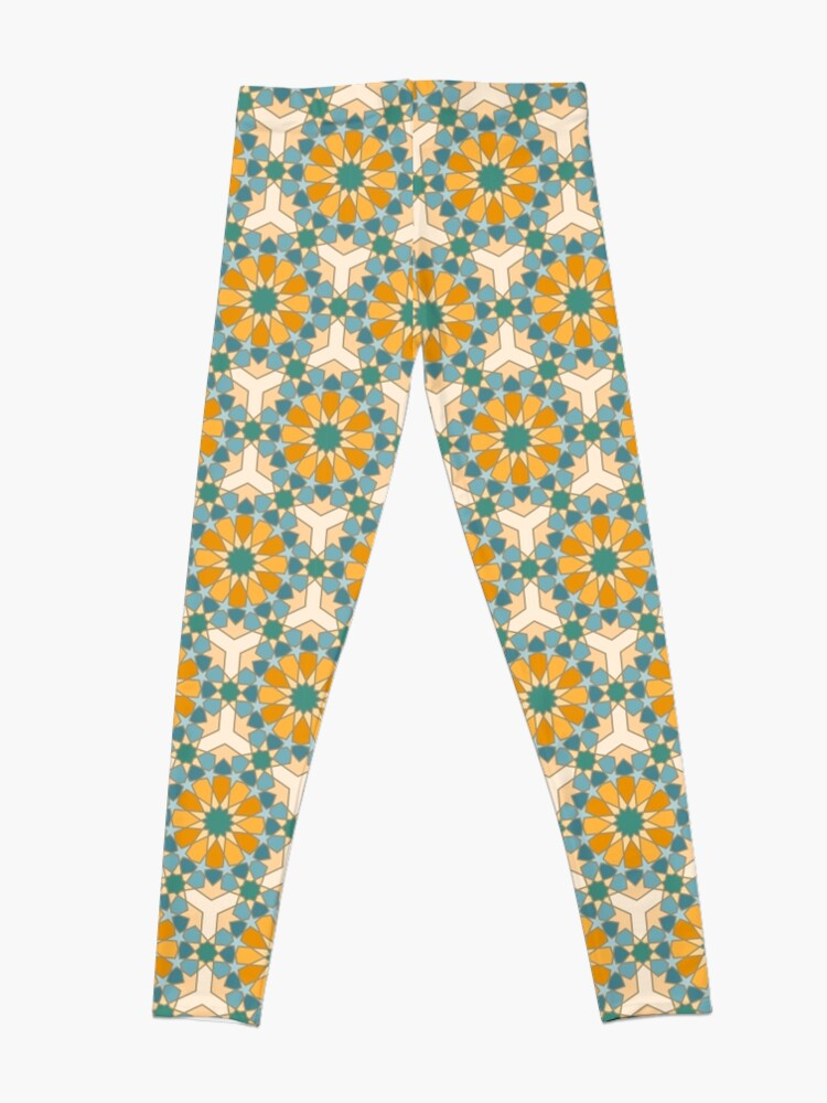 Alternate view of Geometric Pattern: Arabic Tiles: Lily Leggings