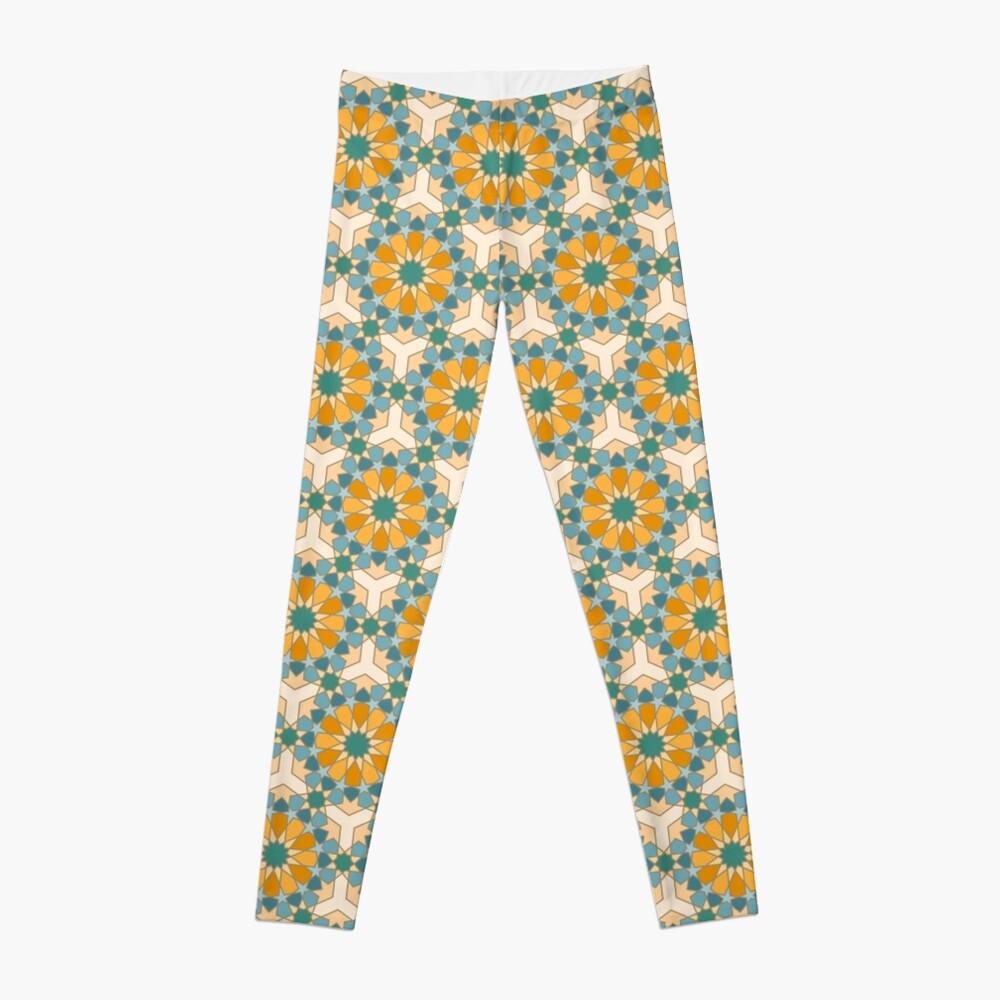 Geometric Pattern: Arabic Tiles: Lily Leggings