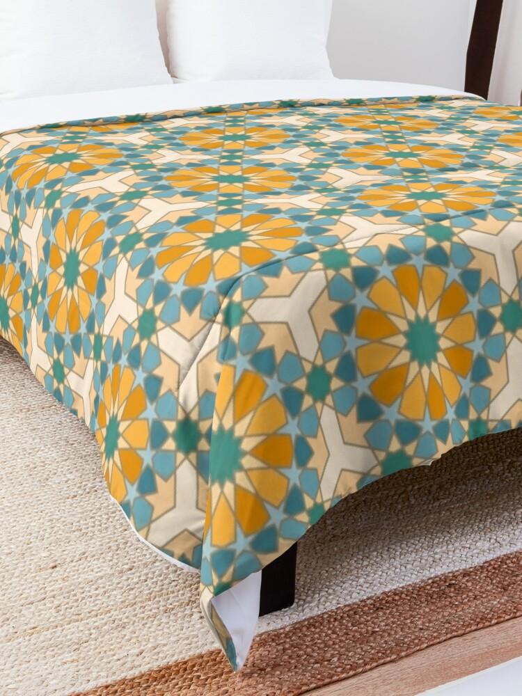 Alternate view of Geometric Pattern: Arabic Tiles: Lily Comforter